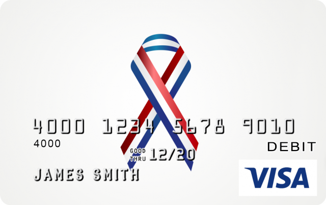 Red White and Blue Ribbon Design CARD.com Prepaid Visa ...Red And Blue Ribbon Logo